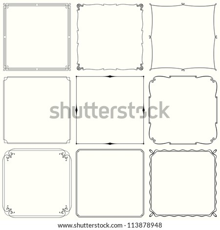 Vector decorative frames (set 33) - stock vector