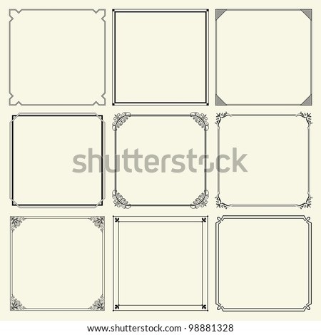 Vector decorative frames (set 11) - stock vector
