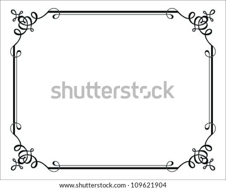Vector decorative frames=vector
