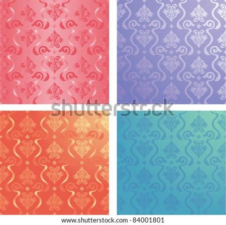 vector decorative ornamental floral background - stock vector