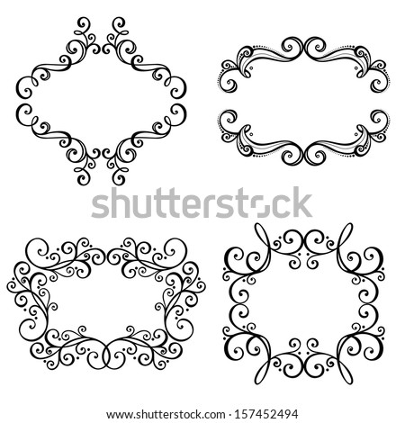 Vector Decorative Ornamental Frame for Text. Design element - stock vector