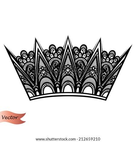 Vector Decorative Ornate Crown - stock vector