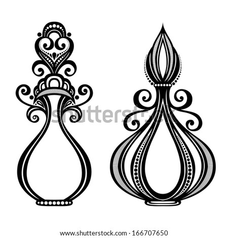 Vector Decorative Ornate Perfume - stock vector