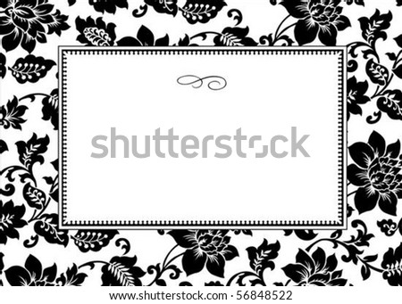 Vector decorative pattern and frame. Easy to scale and edit. - stock vector