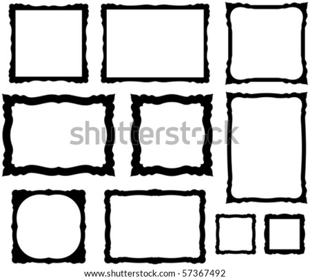 Vector decorative scrapbook frame on white background - stock vector