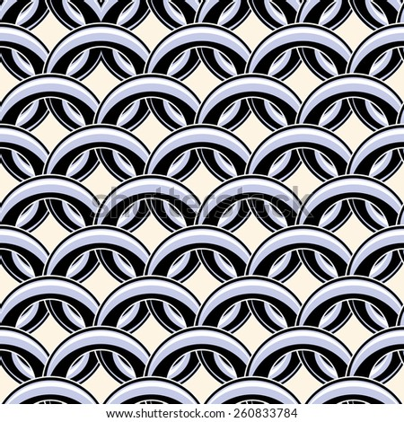 Vector decorative seamless pattern - stock vector