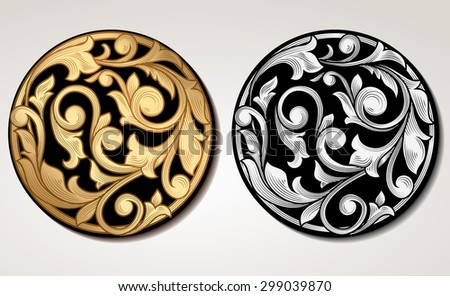 Vector decorative vintage panel - stock vector