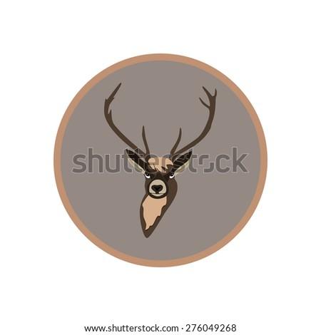 vector deer - stock vector