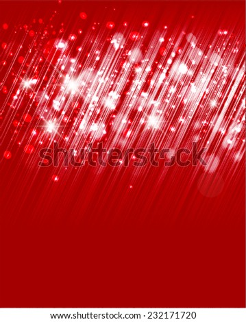 Vector defocused abstract red lights background. - stock vector