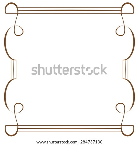 vector delicate frame on a white background - stock vector