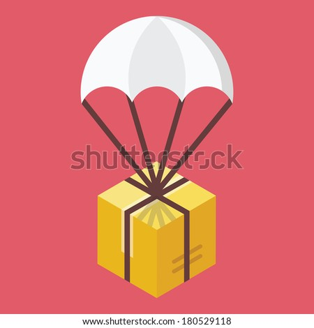Vector Delivery Icon Global Delivery Concept - stock vector