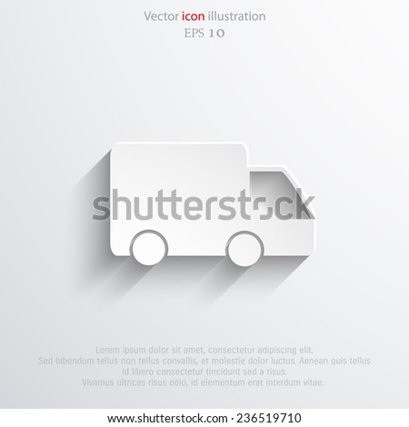Vector delivery web flat icon. Eps 10 illustration. - stock vector