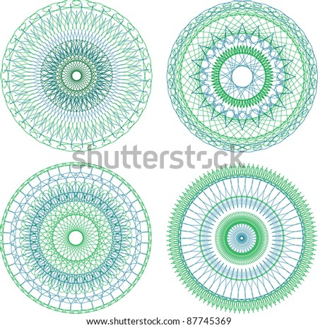 vector design abstract guilloche elements for diploma or certificate - stock vector