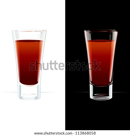 vector design Bloody Mary cocktail or tomato juice - stock vector
