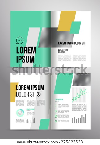 Vector design brochure template with statistic and info graphic for business flyer or presentation. Trend design. - stock vector