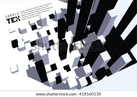 Vector Design  Building and City Illustration at night, City , Urban cityscape - stock vector