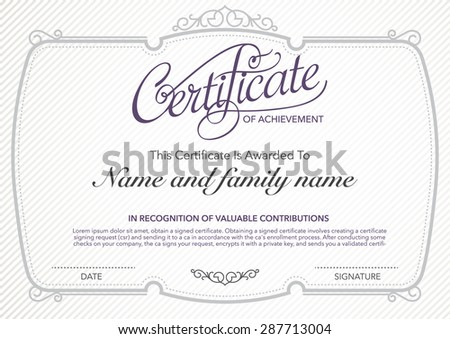 vector design certificate. luxury, modern,