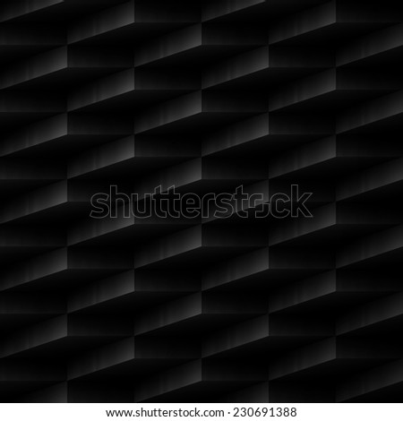 vector design element. black abstract seamless background - stock vector