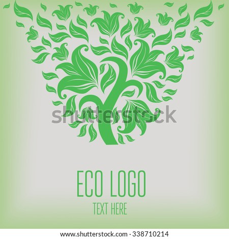 Vector design element for organic natural logo