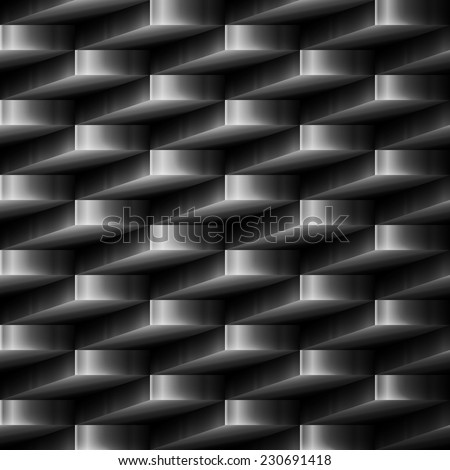 vector design element. metal abstract seamless background - stock vector