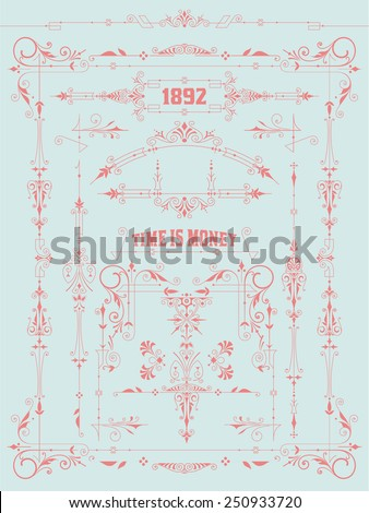 Vector. Design elements - stock vector