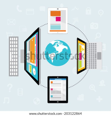Vector Design Elements for Business Social Networking - stock vector