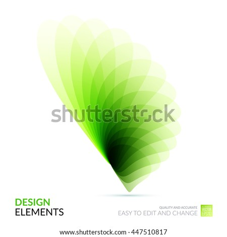 Vector Design Elements for graphic layout. Modern Abstract background template with green soft flower shapes and wave gradient elements for business and beauty with beautiful overlap effect.