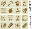 Vector design elements for school and university - collection of icons - stock vector