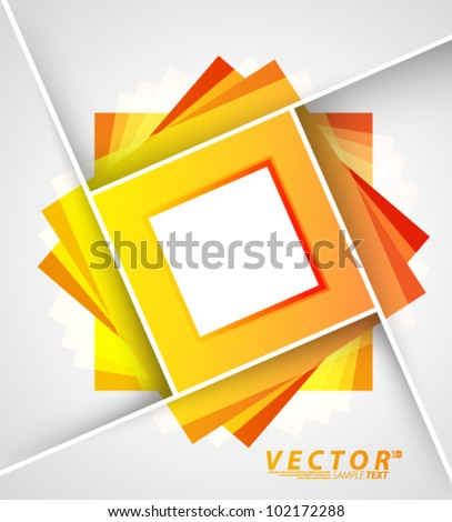 Vector Design - eps10 Abstract Squares Concept Background - stock vector