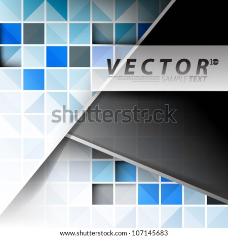 Vector Design - eps10 Abstract Squares with Blue Elements Background