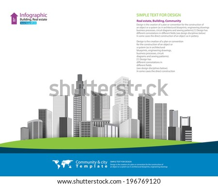 Vector Design - eps10 Building and City Illustration, City scene
