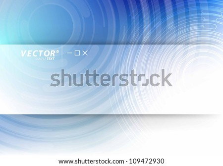 Vector Design - eps10 Circle Lines Concept Background - stock vector