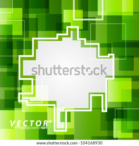 Vector Design - eps10 Colorful Squares Concept Background - stock vector