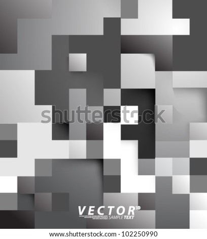 Vector Design - eps10 Digital Squares Concept Background - stock vector