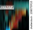 Vector Design - eps10 Multicolored LED Effect Lights Concept Illustration - stock photo