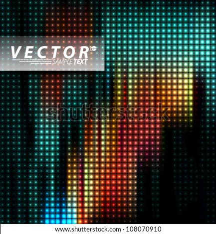 Vector Design - eps10 Multicolored LED Effect Lights Concept Illustration - stock vector