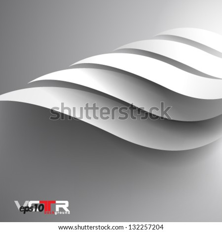 Vector Design - eps10 Overlapping Smooth Curve Lines Modern Concept Background - stock vector