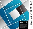 Vector Design - eps10 Overlapping Squares Concept Illustration - stock photo