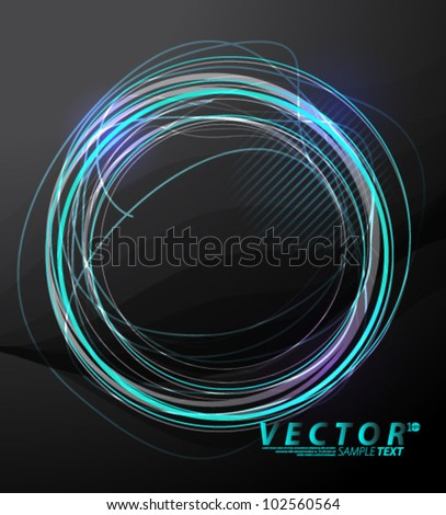 Vector Design - eps10 Simple Glowing Lines Concept Background - stock vector