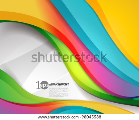 Vector Design - eps10 Smooth and Colorful Concept Background - stock vector
