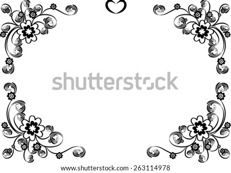 flower designs black and white border wwwpixsharkcom
