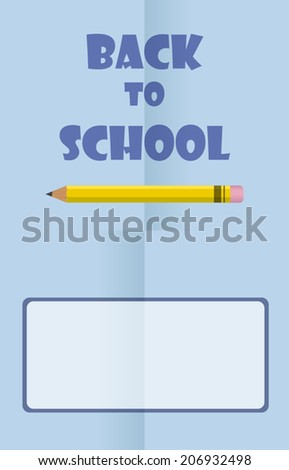 Vector Design for Back to School. Eps 10. Easy to edit. Perfect for invitations or announcements. - stock vector