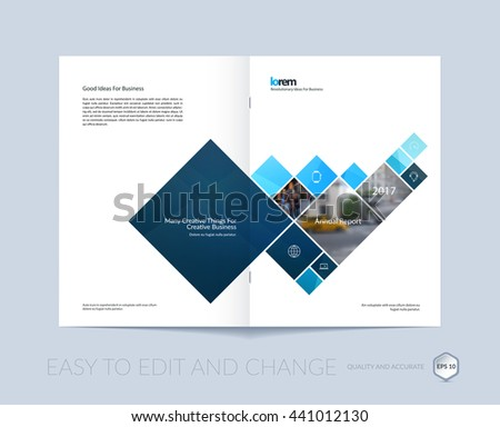 Vector Design Cover Annual Report Brochure Stock Vector