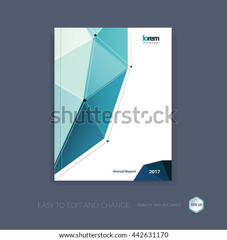 Vector Design Cover Annual Report Brochure Stock Vector 444105628