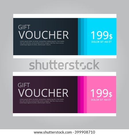 Vector design for Gift Voucher,Coupon