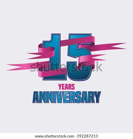 Vector Design 15 Years Anniversary Celebration Stock Vector