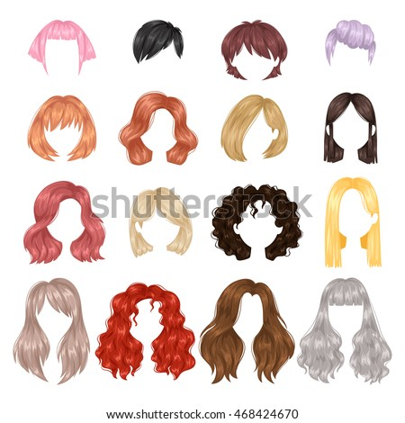 hairstyles for medium length natural hair : collection of female hairstyle. Portrait beautiful woman hairstyle ...