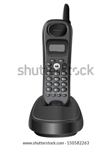 Vector design of cordless phone