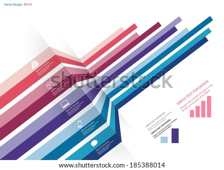 Vector design of infographic business chart, Abstract chart  - stock vector
