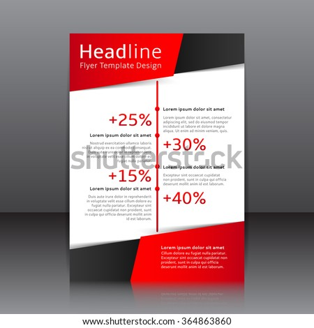 Vector Design Red Flyer Whit Black Stock Vector